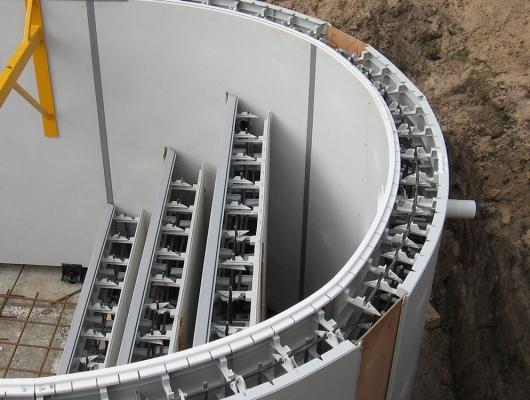 Maîtrise du cintrage de l'acier pour la construction d'une piscine béton - Aquafeat
