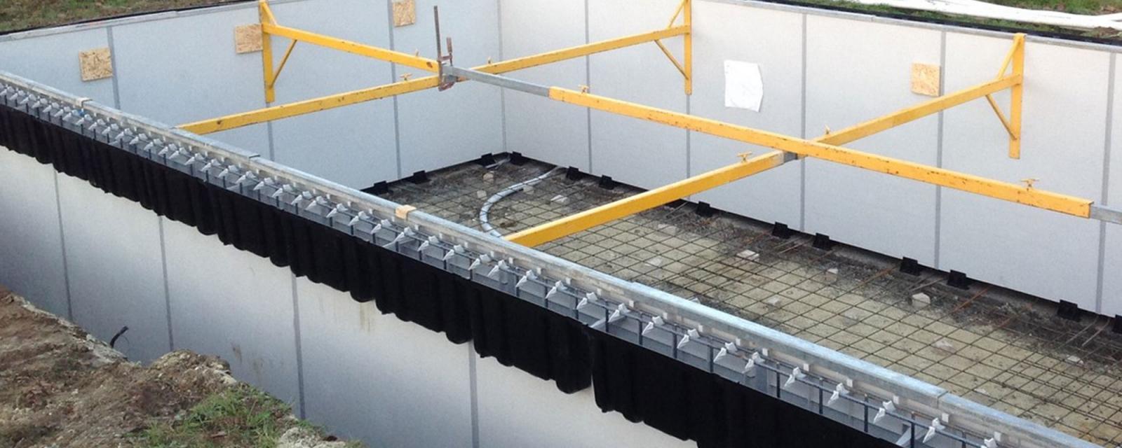 kit étayage pour renforcer la stabilité du coffrage perdu - Aquafeat