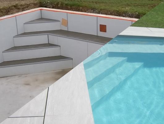 Tous les types d'escalier pour piscine - Aquafeat