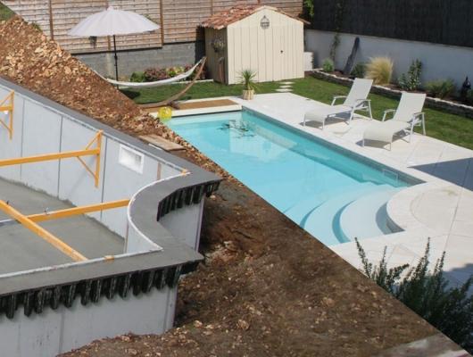 Supports margelles pour piscine béton - Aquafeat